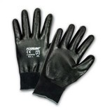 West Chester 715SNFFB-2X Flat Nitrile Full Dip Gloves- Black